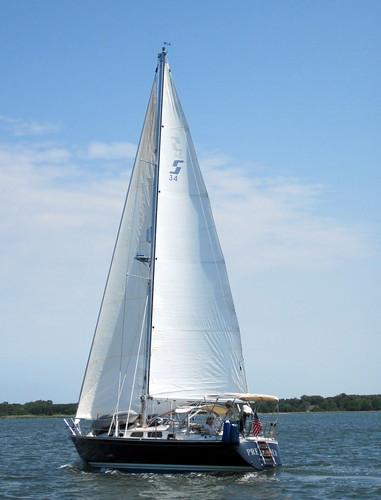 Pretender sails past