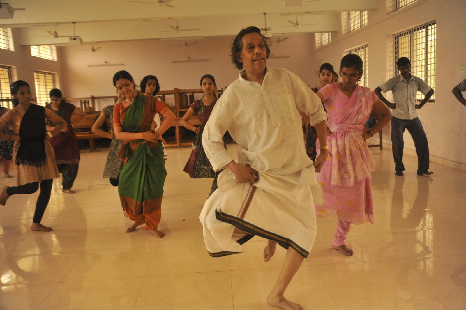 We come dancing from Kuchipudi village of Andhra..