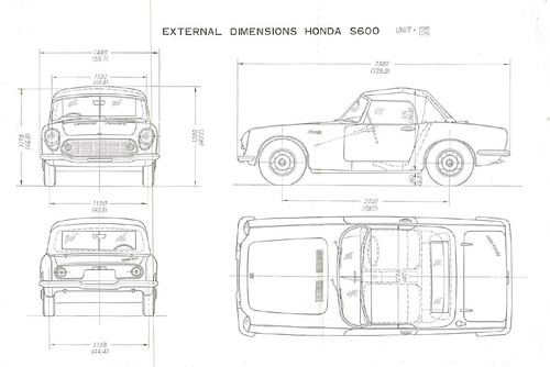 Honda s600 dimensions blueprints