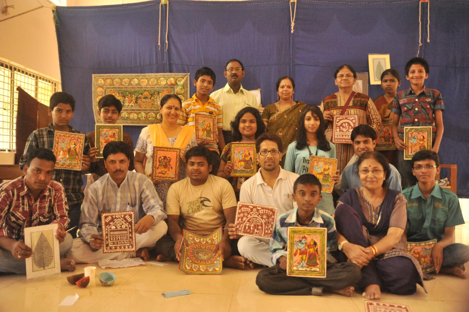 Pattachitra students ready to take stage