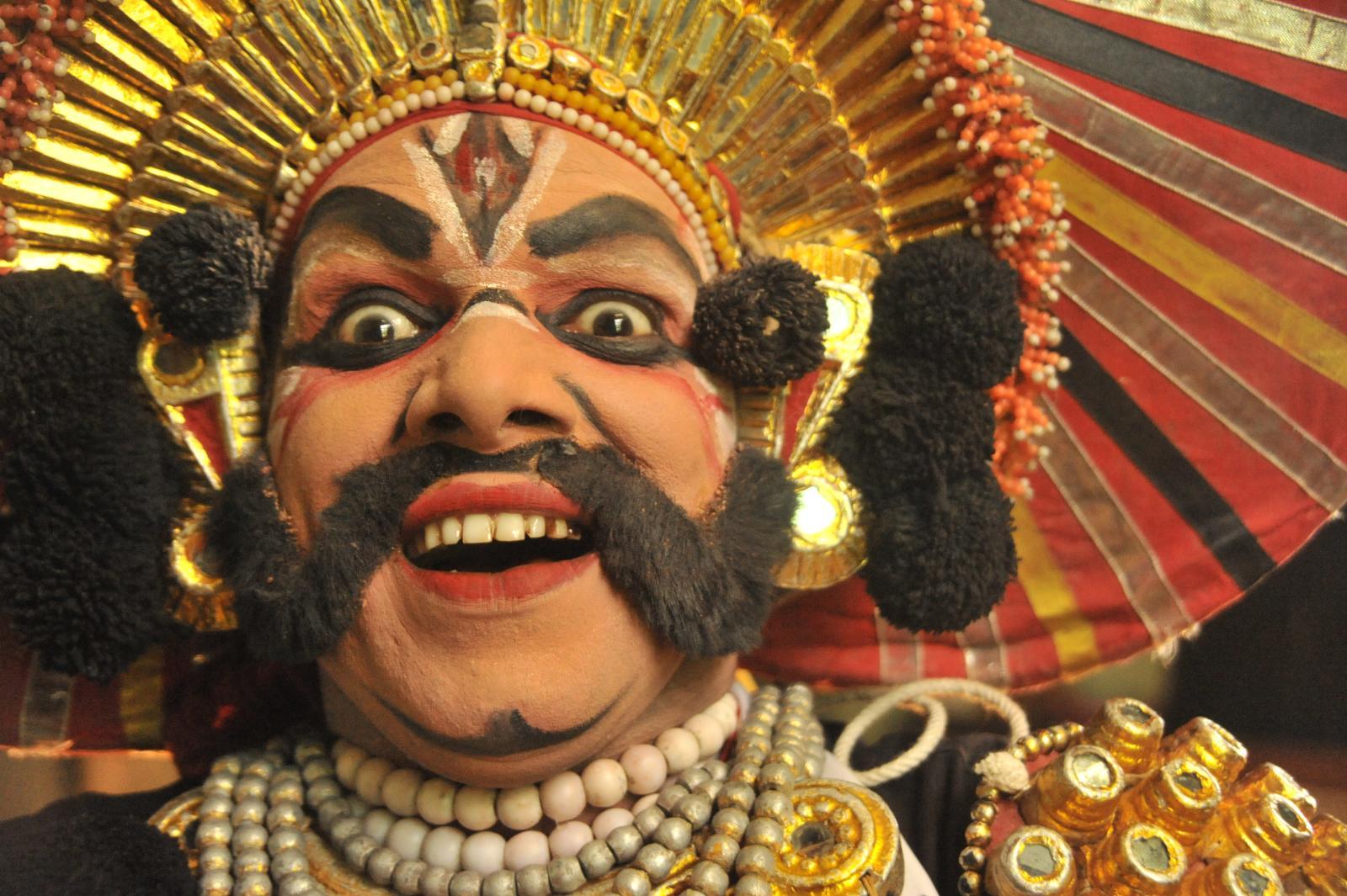 With his willy laughter. Yakshagana, Kichaka Vadha