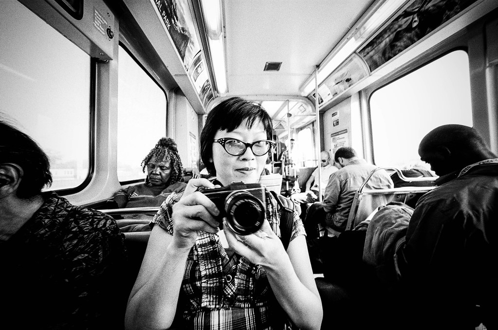 Lily and Olympus on the El