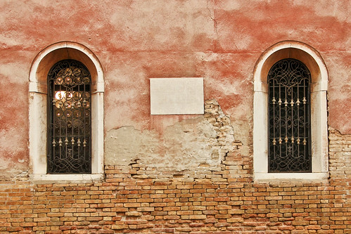 Red Wall with Windows