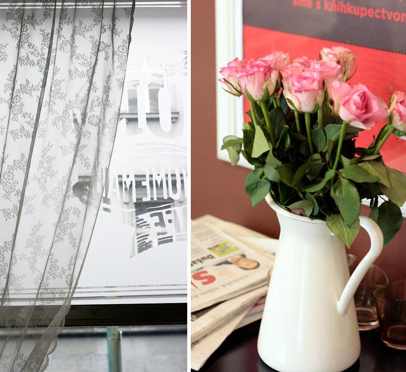 curtain | roses