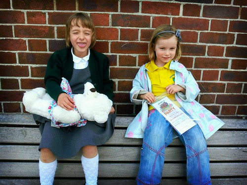 Millie & Amber on the bench