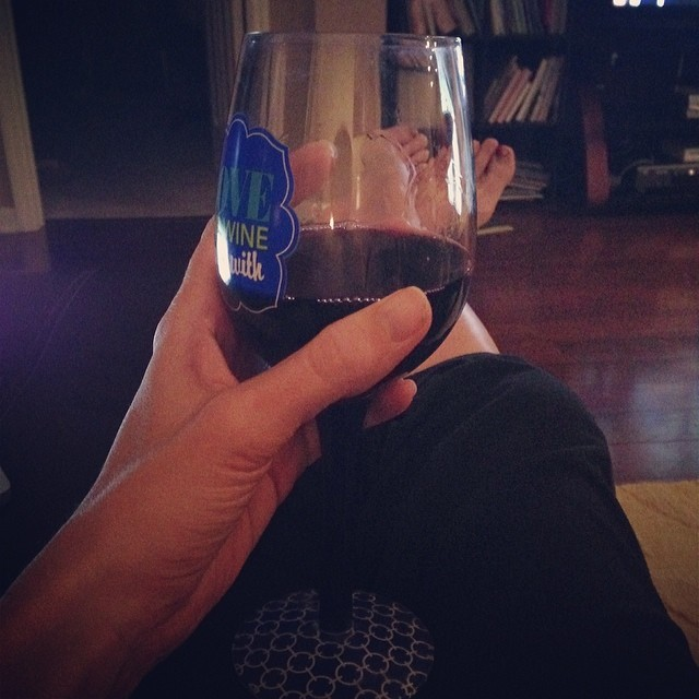 I decided to take the entire week off from working out/running and just drink wine instead. The time change is killing me and I'm feeling overwhelmed. So, instead of trying to do it all, I'm taking a much needed break. #keepingitreal