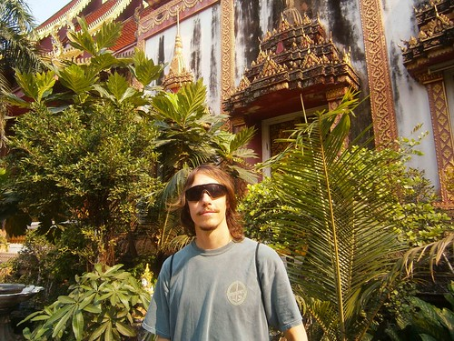 Kyle in front of the temple