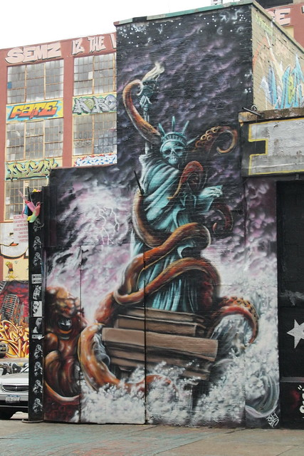 Detail of the graffiti at 5Pointz. Photo by Ellen Brenna Dougherty