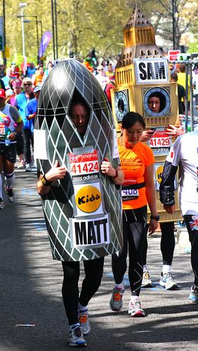 London Marathon 2012 Gherkin & Big Ben