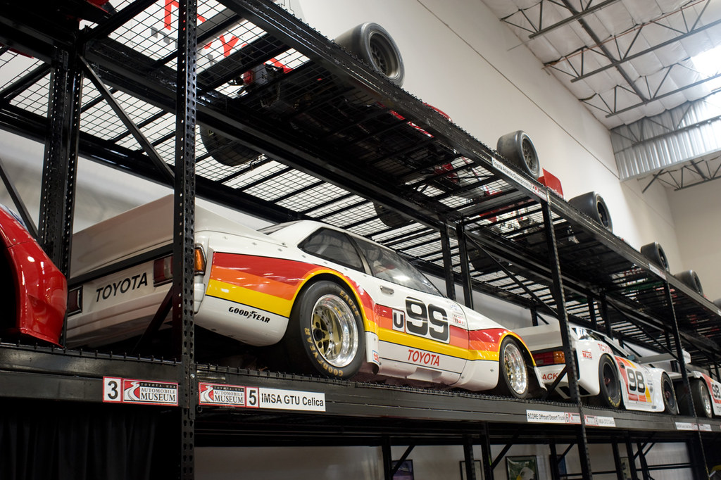 Wall of racecars