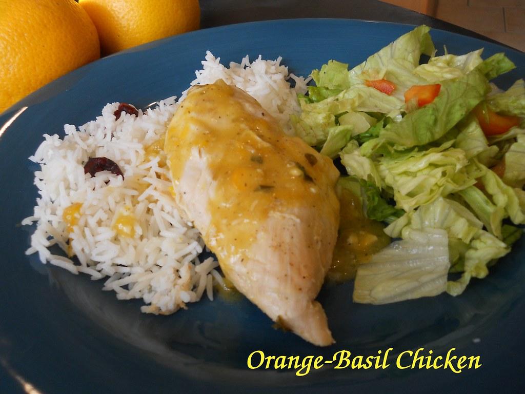 Orange basil chicken