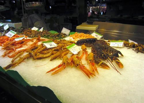 seafood at the boqueria