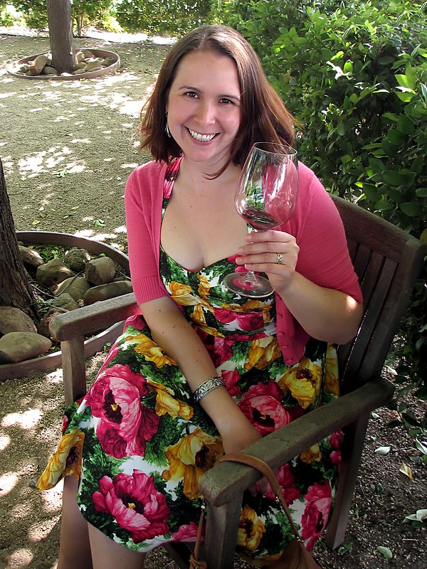 All dolled up in bright florals for my birthday. Photo by Pat Zimmerman.