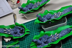 1-100 Kshatriya Neograde Version Colored Cast Resin Kit Straight Build Review (84)