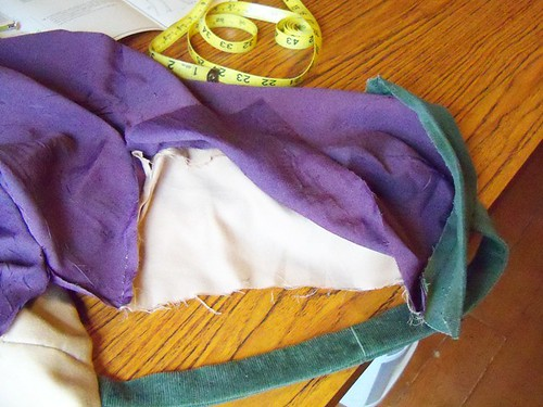purple dress attaching