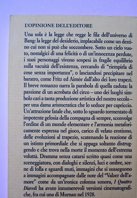 Herman Bang, I quattro diavoli, Iperborea 2012. [resp. grafica non indicata]. Quarta di copertina (part.), 1