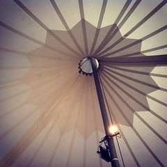 tent-top. (Theater 360 tent, Kensington Gardens, London.)