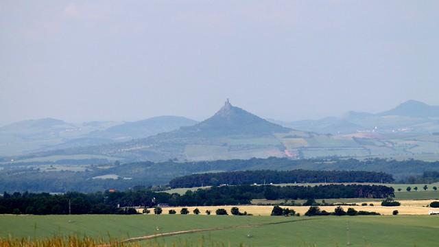 Hazmburk Castle, seen from Říp.