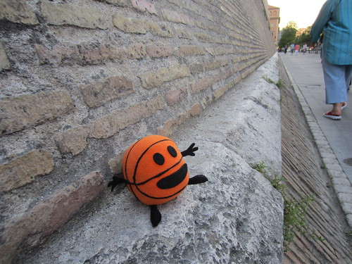 bally on the vatican wall