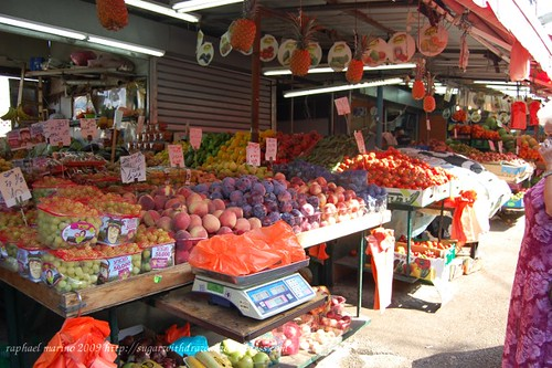 Shuk HaCarmel fruits and veggies