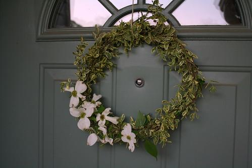 springy dogwood wreath