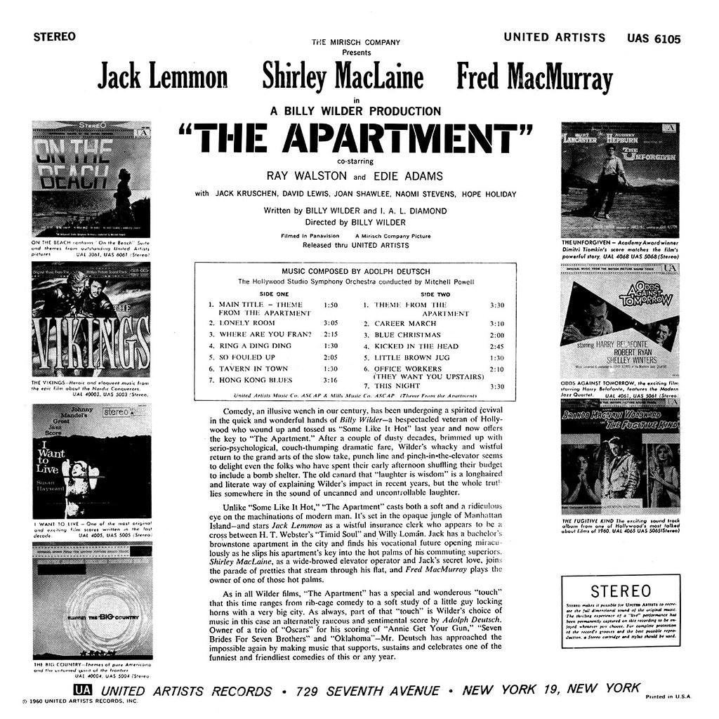 Adolph Deutsch - The Apartment
