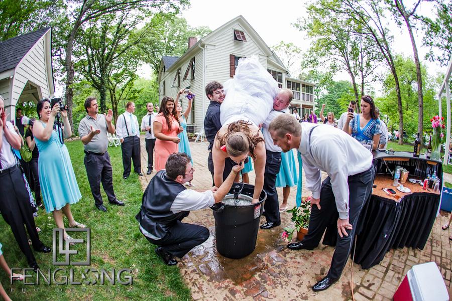 Bride Does a Keg Stand | Alicia & Joe's Wedding | The Wheeler House | Ball Ground Canton Wedding Photographer