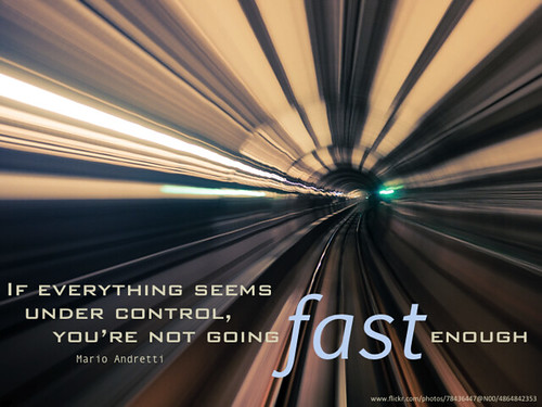 Are you going fast enough?
