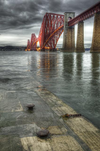 Forth Bridge in the Rain