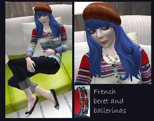 French beret and ballerinas