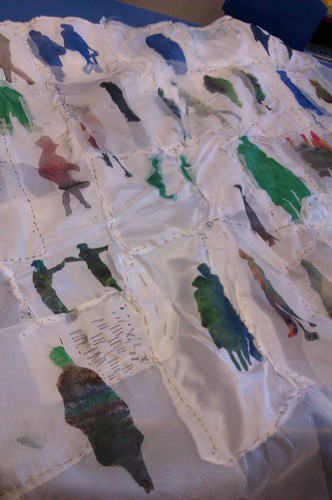 Silk printed hanging