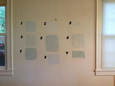 dining room paint samples