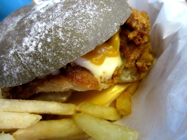 Chicken sotong burger