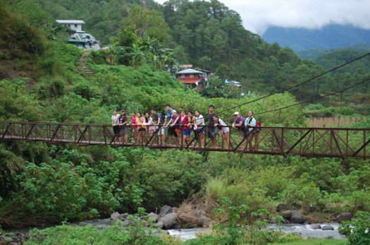 Hanging bridge in Sagada