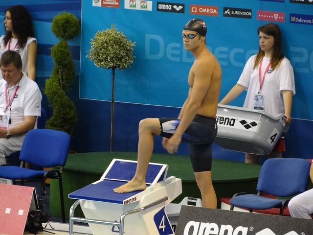 Dominik Meichtry looking very focused at Debrecen 2012
