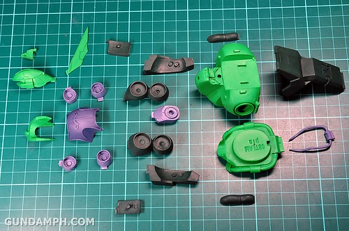 1-100 Kshatriya Neograde Version Colored Cast Resin Kit Straight Build Review (13)