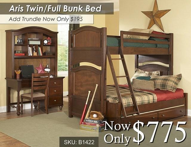 Aris Twin Full Bunk Bed 1422