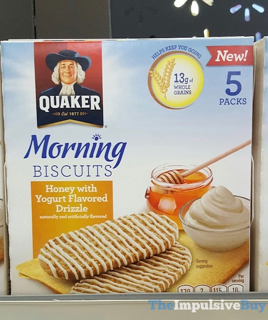 Quaker Morning Biscuits Honey with Yogurt Flavored Drizzle