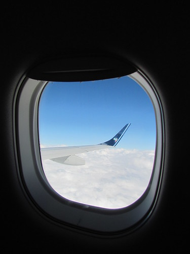 Tentativa de foto artística em pleno voo.
