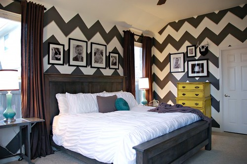 Chevron Bedroom by Living With Lindsay