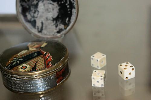 Bonnie Prince Charlie dice box