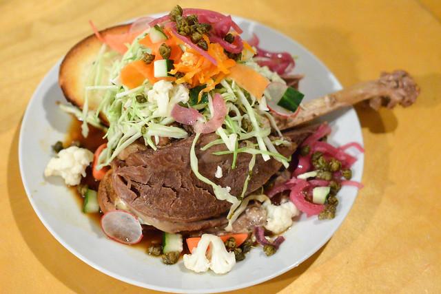 Pan con Chompipe 2 pound salvadoran turkey leg sandwich