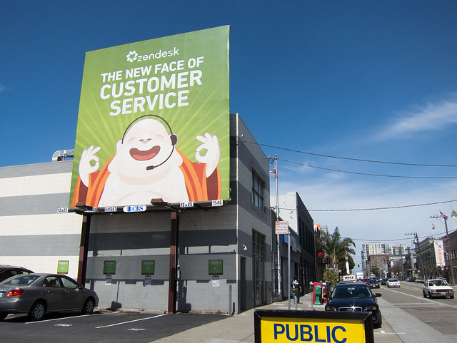Zendesk billboard in San Francisco