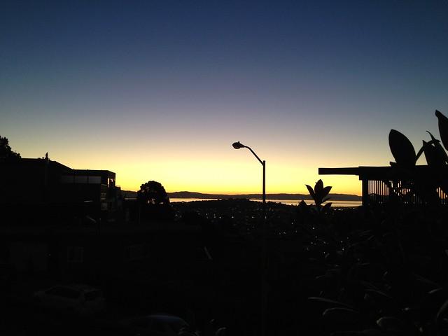 San Francisco dawn from Roosevelt Way