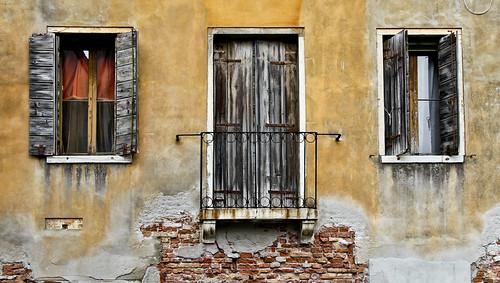 Door in Yellow Wall