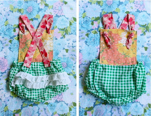 Easy Summer Outfit - Bloomers to Romper DIY - Smile And Wave