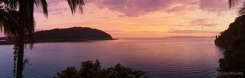 Golfo Dulce im Abendlicht