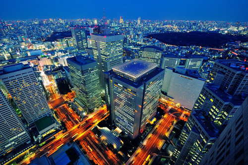 Shinjuku in Blue by hidesax