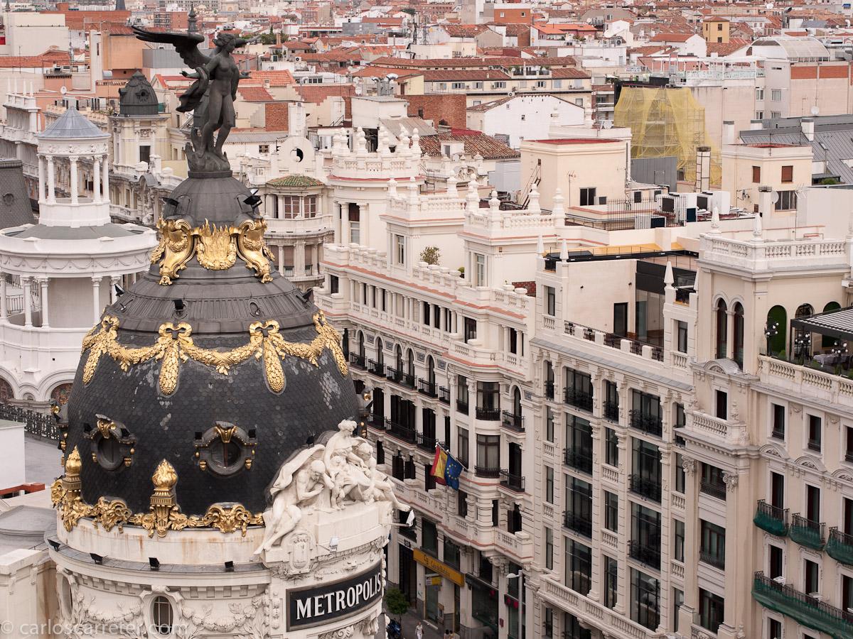Desde la terraza del Círculo de Bellas Artes