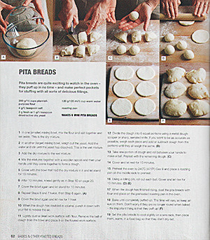 Step by step instructions on how to bake Pita bread.